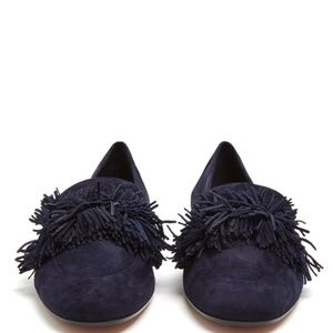 💥 Aquazzura fringe loafers flats black Suede
